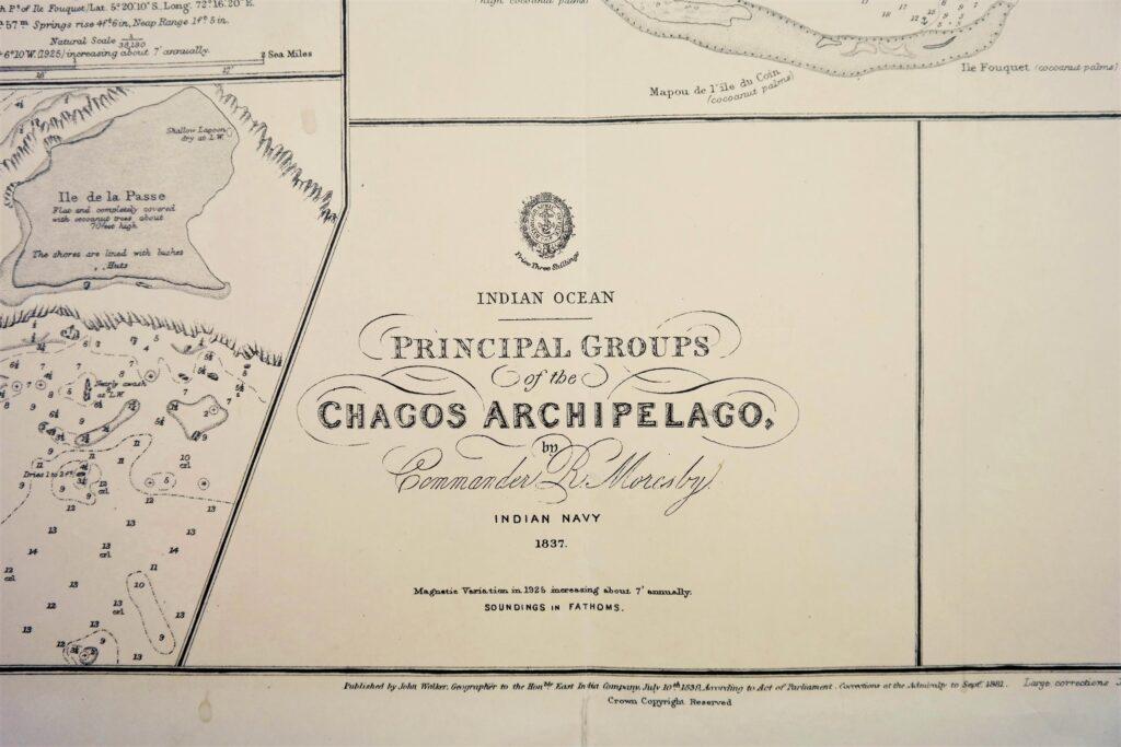 Salomon, Chagos Archipelago – Indian Ocean – British Admiralty Chart no. 4, published in 1830
