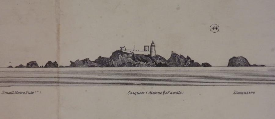 Alderney & the Casquets – the English Channel Islands – British Admiralty Chart 60, published 1863