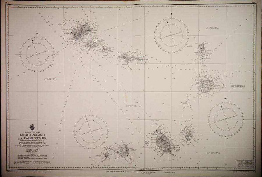 Arquipélago de Cabo Verde – North Atlantic – British Admiralty Chart 366, published 1820