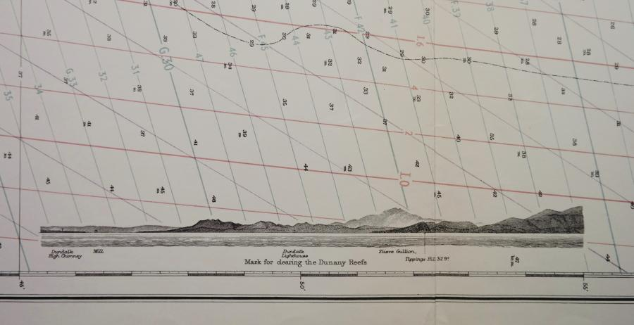 Ireland, East Coast – Skerries Islands to Lough Carlingford with Dundalk Bay – British Admiralty Chart no. 44, published in 1883