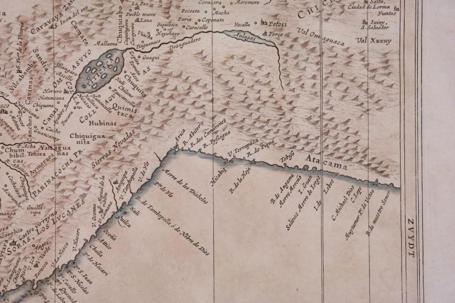 Peru or Perou – Amsterdam, 17th century – handcolored map