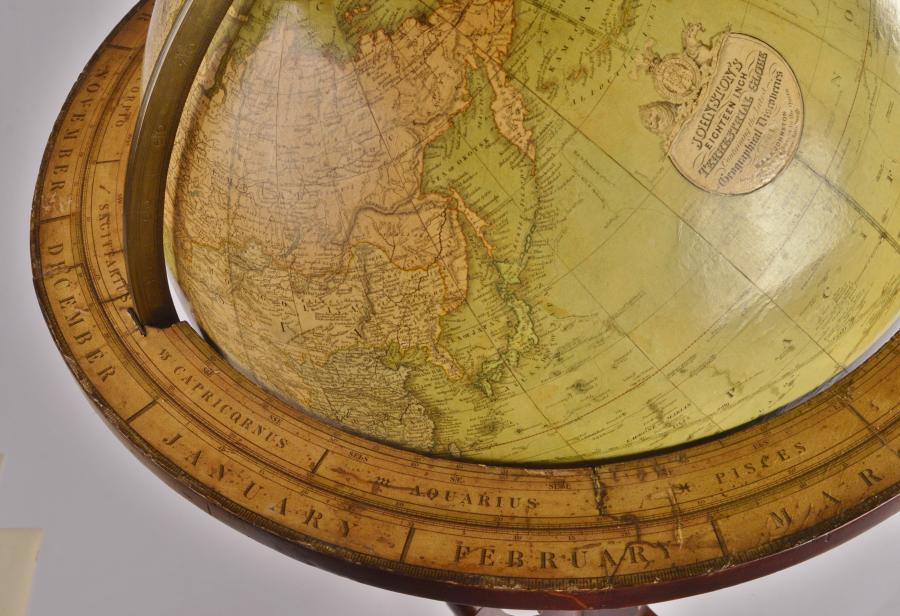 Monumental 18 inch terrestrial Globe, 1861 – Johnston, Edinburgh, Scotland