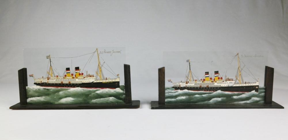 Two Mailboats on glass – Maatschappij Zeeland, Vlissingen/Hook of Holland