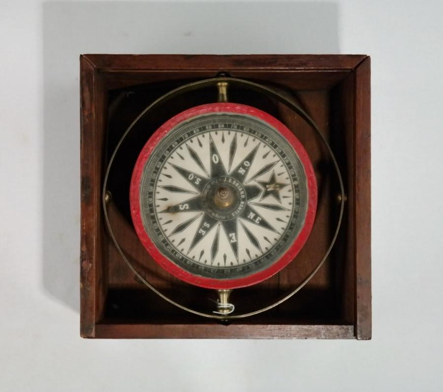 Dry Card Bearing Compass, large – Briand, Nantes, 19th century