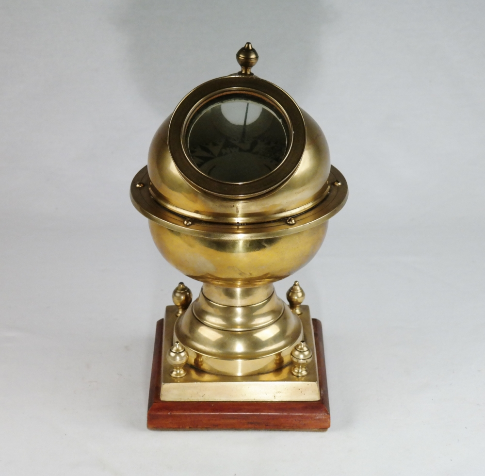 Brass Yacht Compass – Lilley & Son, London, 19th century