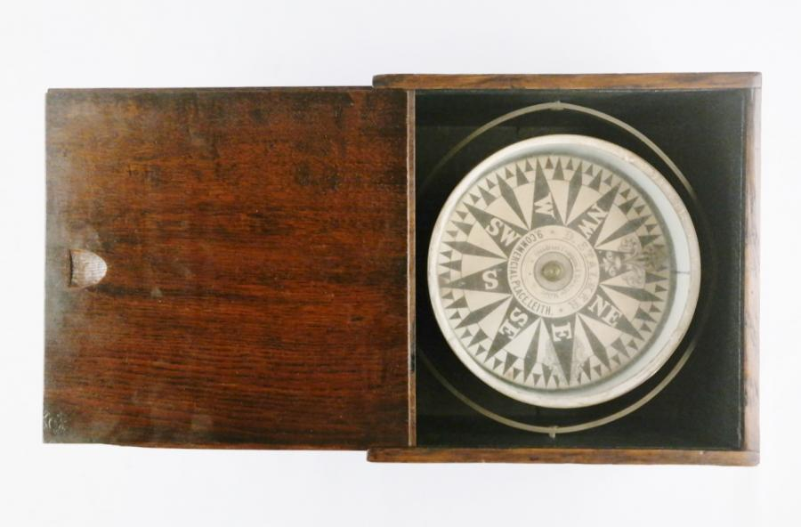 Large Dry Card Compass – Stalker, Leith, 19th century