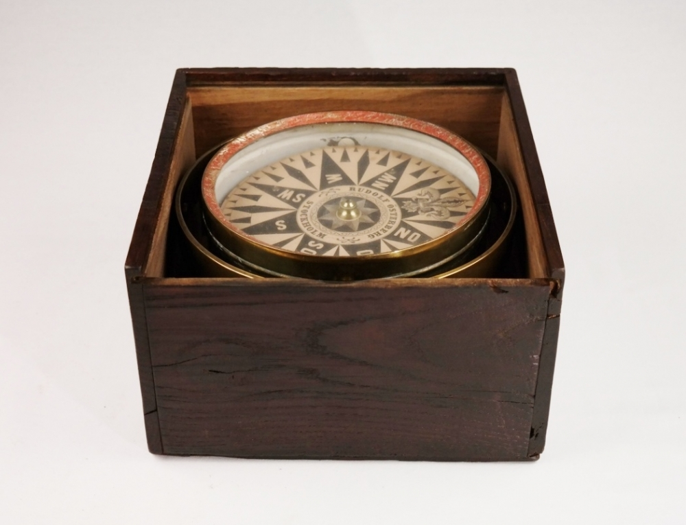 Large Dry Card Compass – Österberg, Stockholm, 19th century