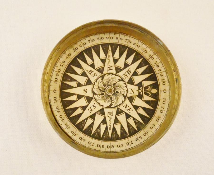 Dry Card Pocket Compass – Springer, Bristol, England, 19th century