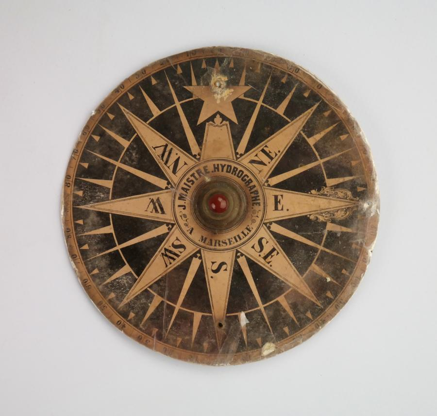 Tell-tale Compass, double use and very rare – Maistre, Marseille, France, 18th century