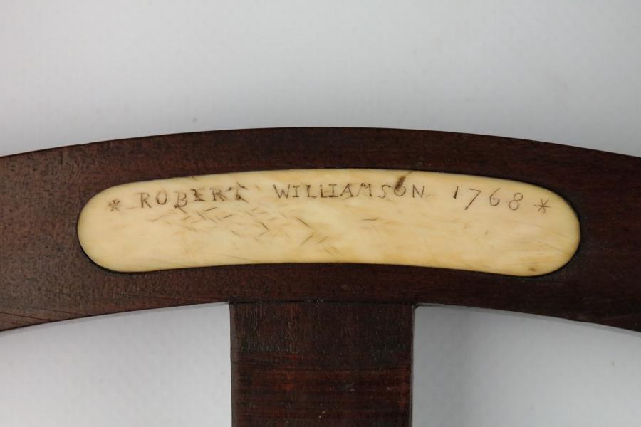 Large Mahogany Octant, 20 inch – Williamson, England, 18th century