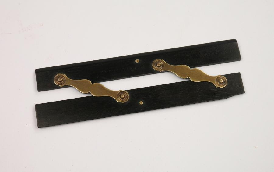 Small Parallel Ruler, brass and ebony