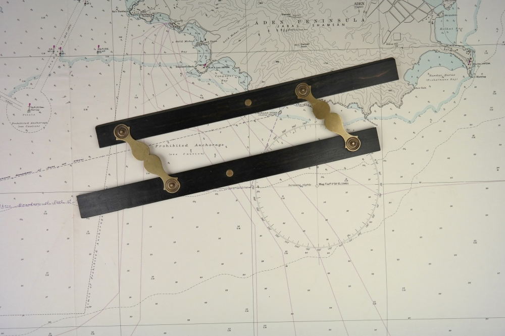 Parallel Ruler, brass and ebony – 19th century