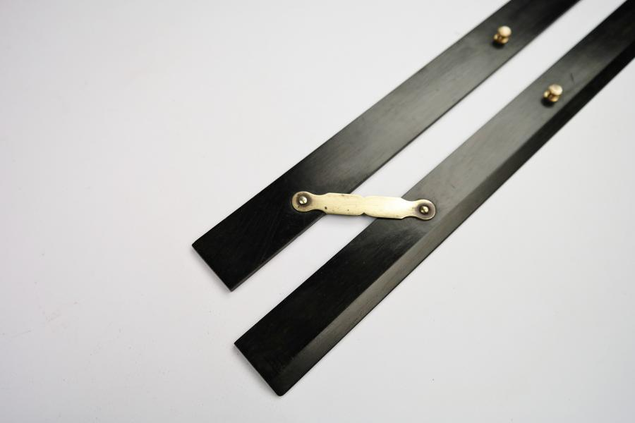 Parallel Ruler, brass and ebony