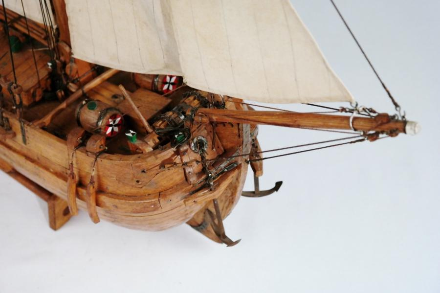 Ship Model of a Dutch seagoing Spritsail Barge – 19th Century