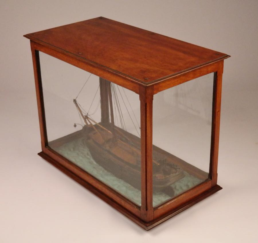 Ship Model of a Dutch Klipper on a Seabed – 19th century
