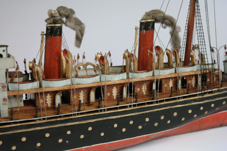 Model of the Cunard Liner Lucania – Glasgow, 1893