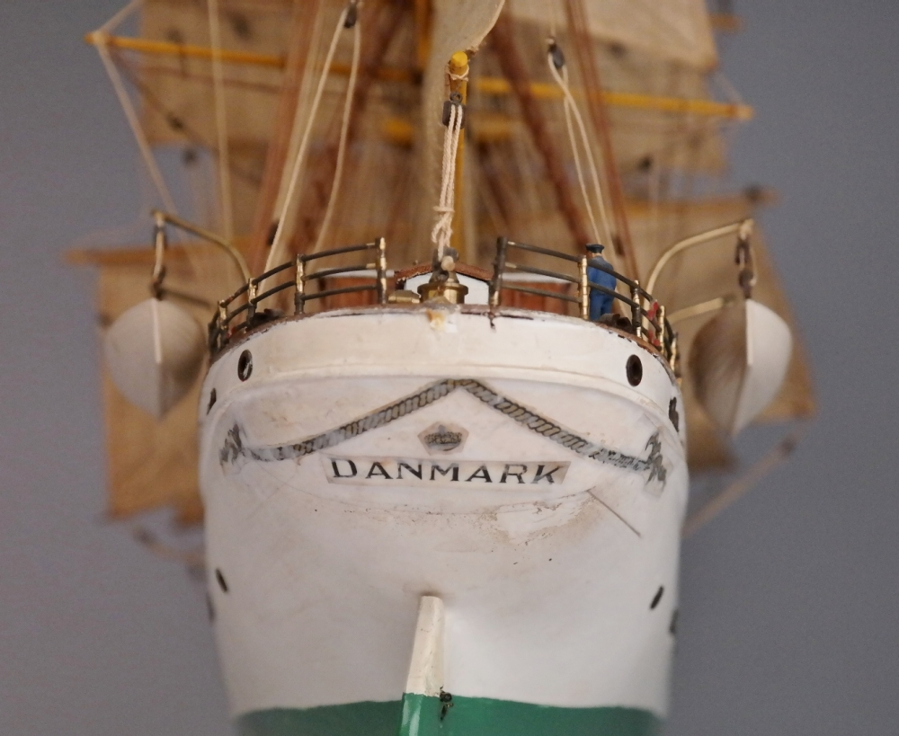 Large model of training ship the Denmark – Denmark