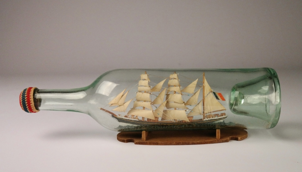 Ship in a bottle, 19th century