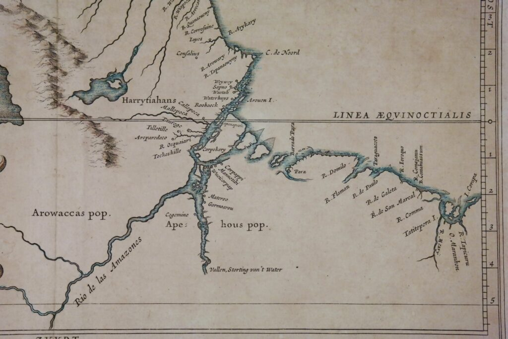 Coast of Guinee or Guaiana, handcolored map – Amsterdam