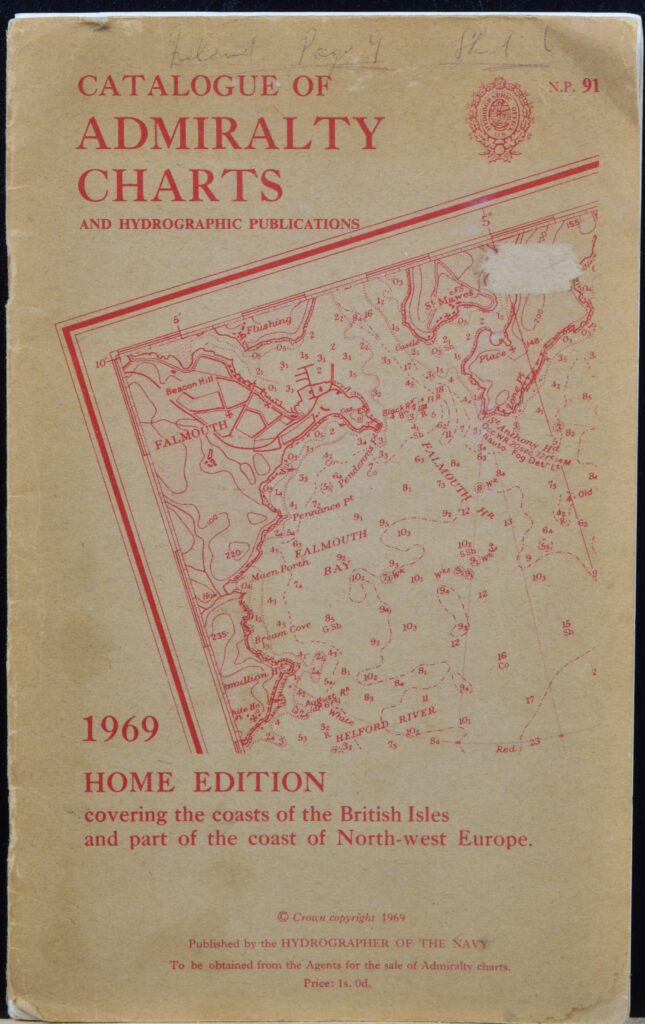 Home Edition 1969 – Catalogue of Admiralty Charts, England