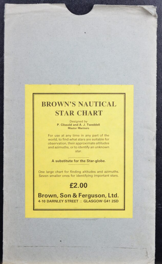 Brown's Nautical Star Chart – Brown, Glasgow, England