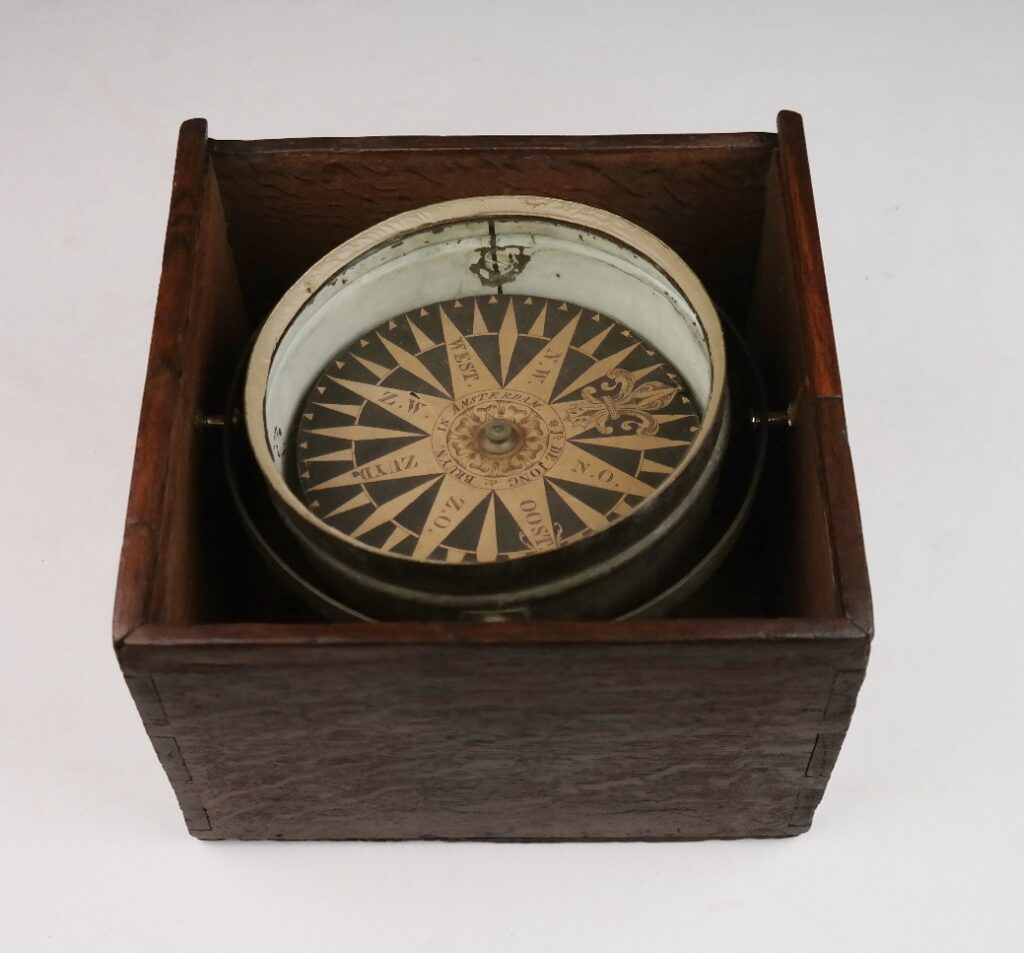 Dry Card Compass – Jb. de Jong & Bruyn, Amsterdam, 19th century
