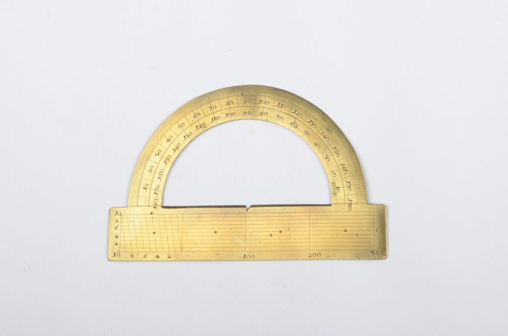 Special Brass Protractor, 18th century