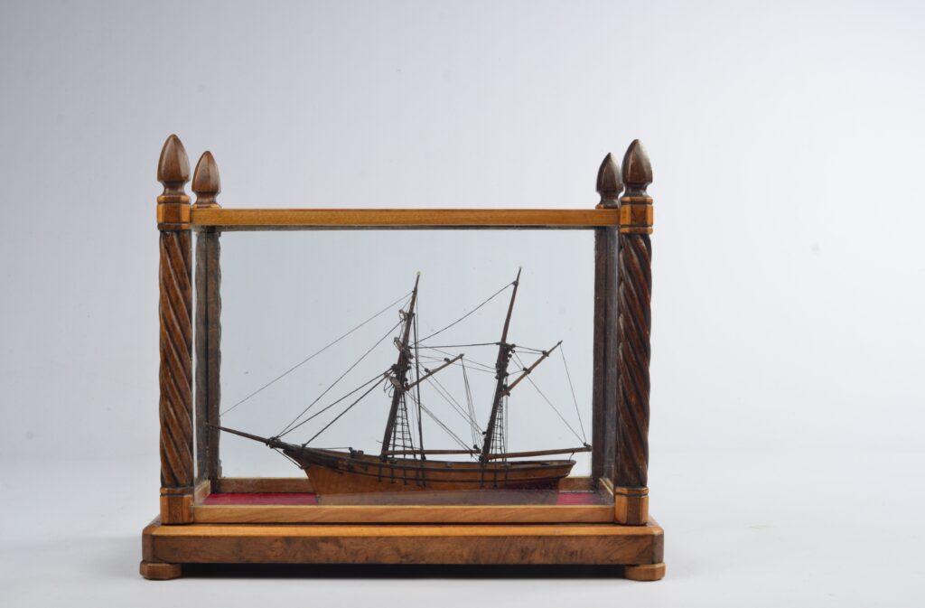 Waterline Model of a Brigantine, 19th century