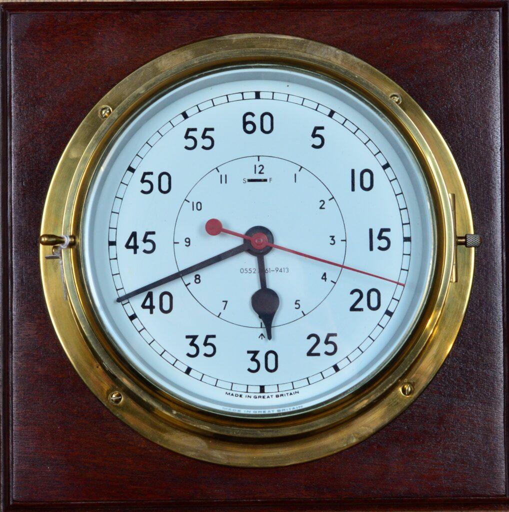 Large Admiralty Bulkhead Centre Seconds Clock, 25 cm/10 inch