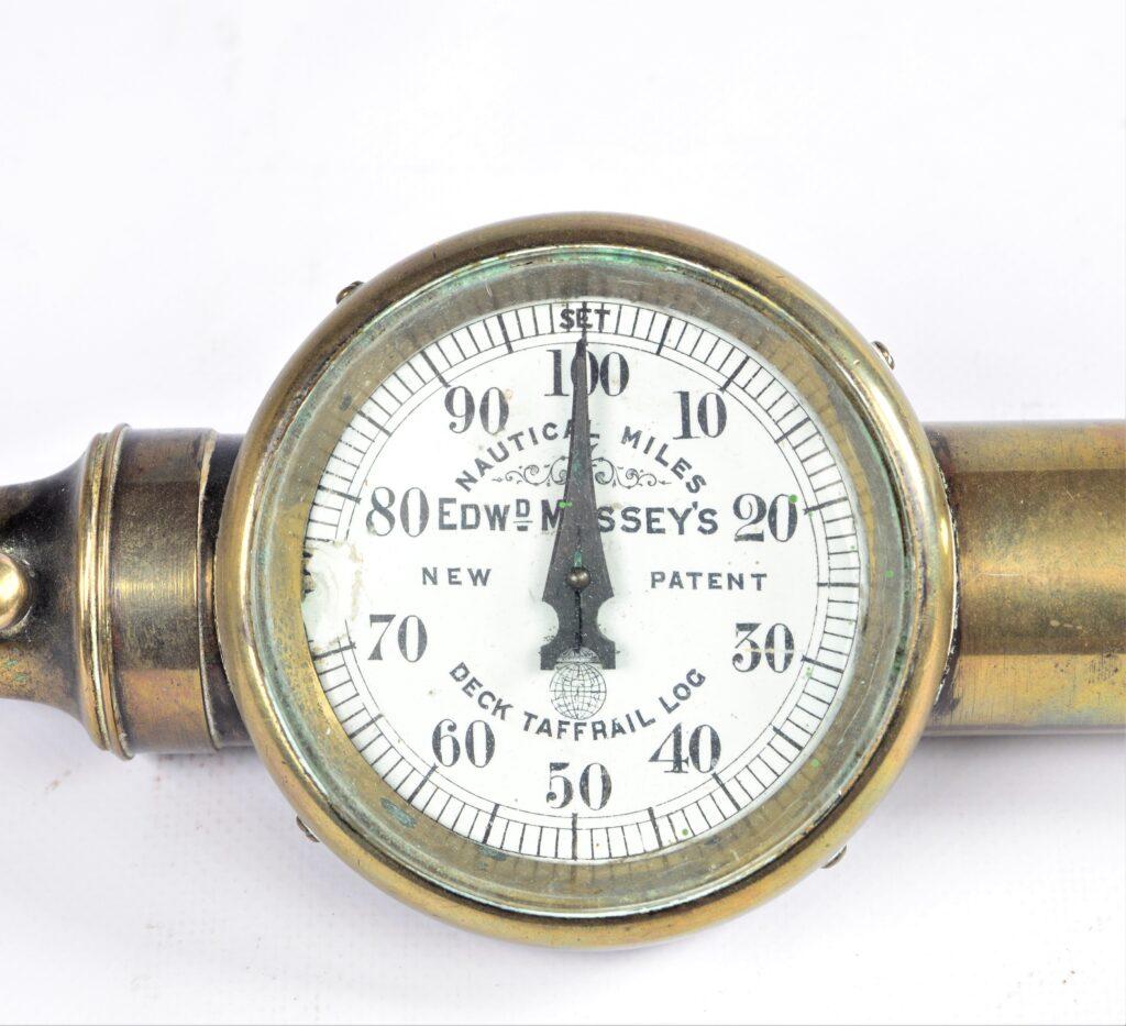 Deck Taffrail Log, new patent – Edw. Massey, London, ca. 1890