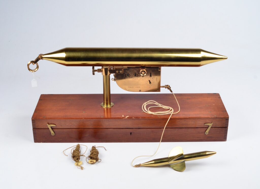 Unique Floating Log and Current Meter – Edward Massey, London, ca. 1850