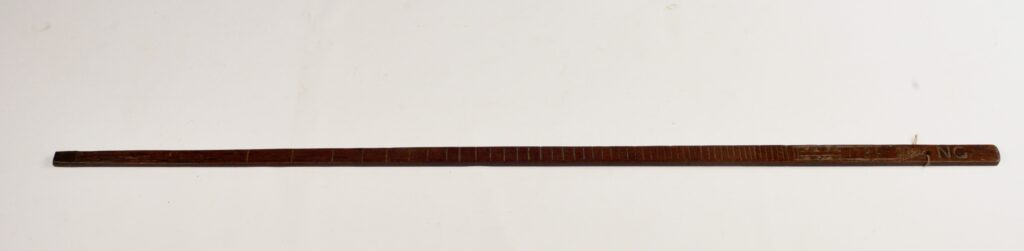 Sounding-rod dated 1781