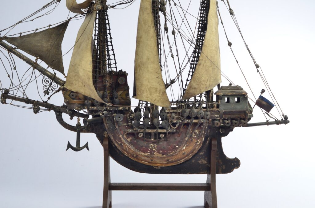 Hanging ship model of a Carrack – Netherlands, 19th century