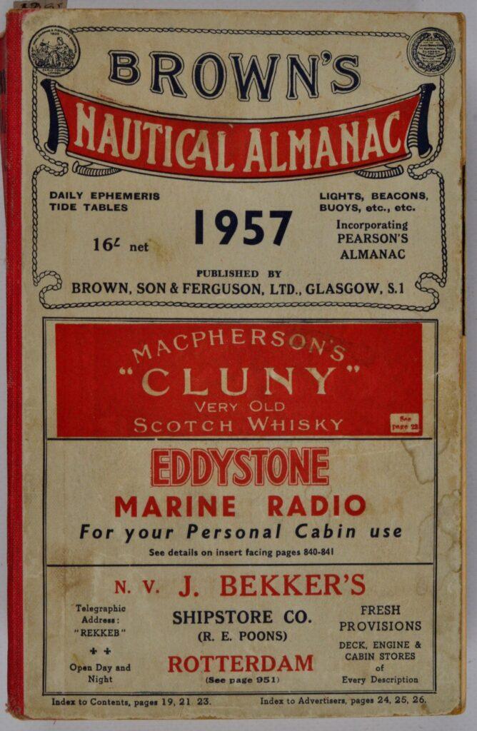 Brown's Nautical Almanac – Brown, Son & Ferguson Ltd, Glasgow, England