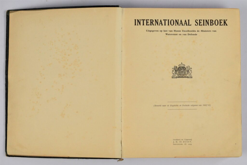 Internationaal Seinboek – Amsterdam, 1933