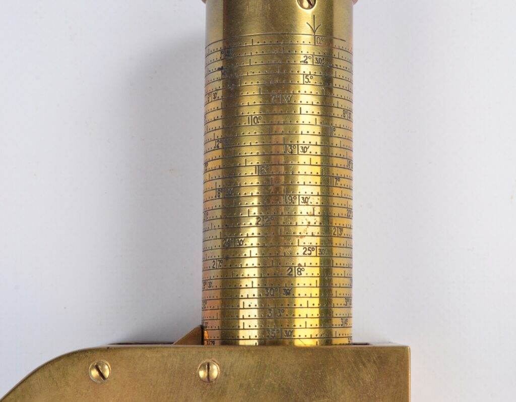 Large Brass Watkins Clinometer – Watts & Son, London, 1941