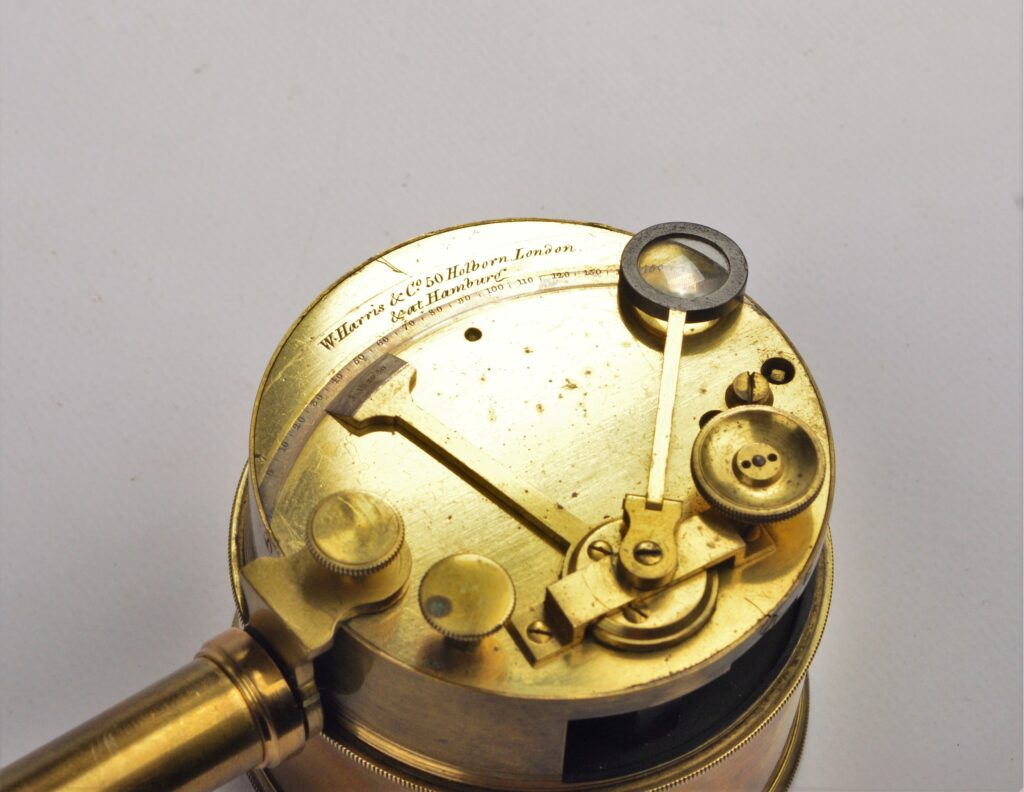 Early Pocket Sextant with detachable telescope – Harris London and Hamburg