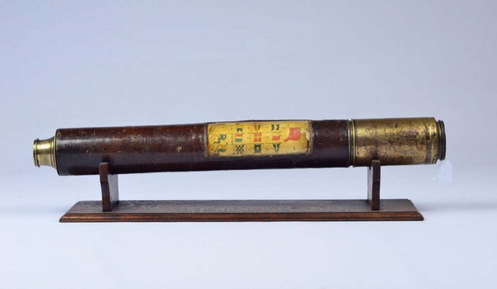 Naval Telescope with Signal Flags – England, ca. 1880