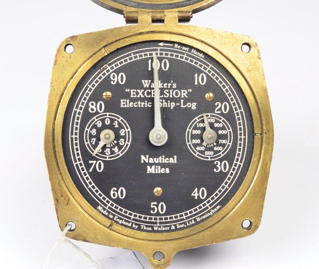 Excelsior Electric Bridge Log Clock – Walker's, Birmingham, England, ca.1937