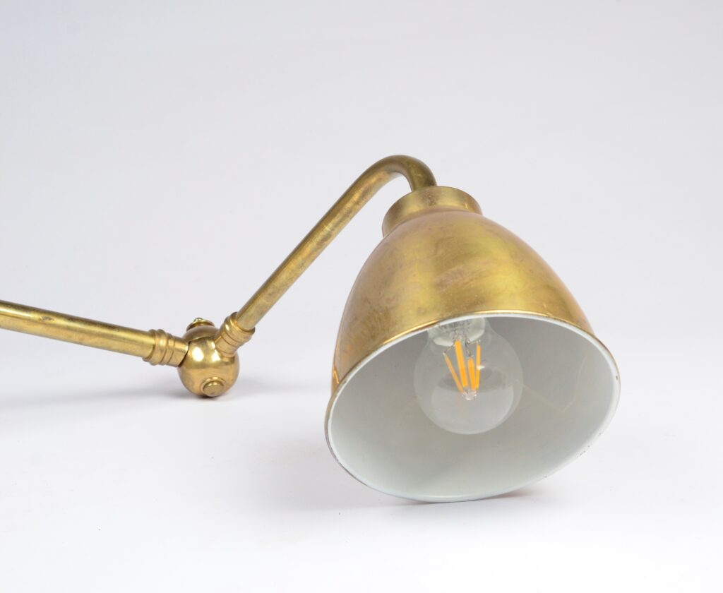 Brass Chart Room Lamp – 20th century