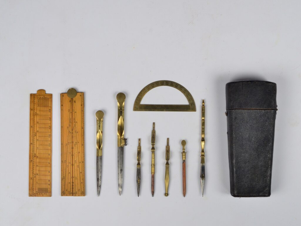 Shagreen cased drawing instruments – early 19th century