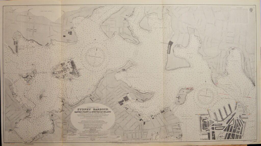 Sydney Harbour – Australia – East Coast British Admiralty Chart 1207, published 1915