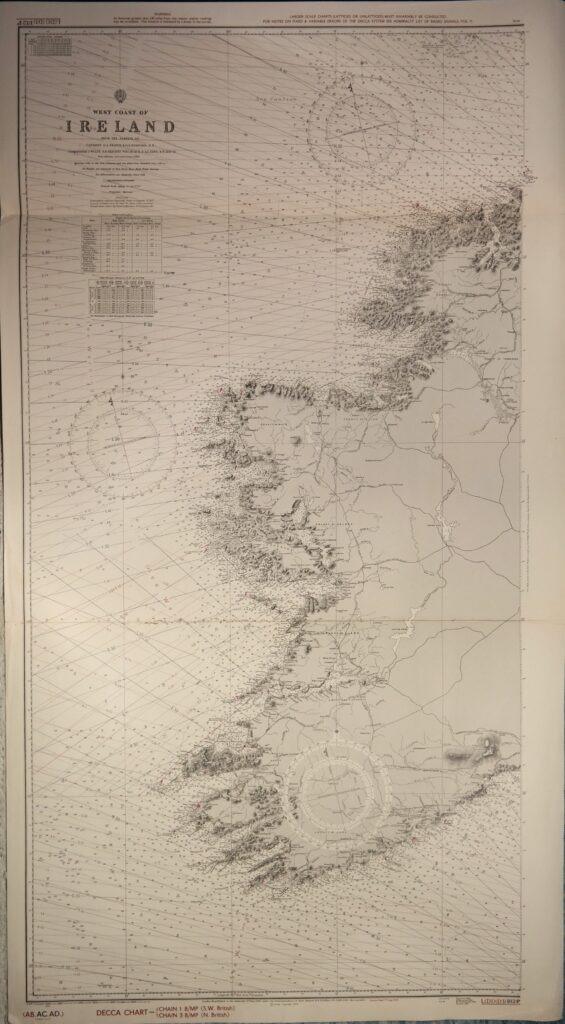 Ireland – East Coast British Admiralty Chart 1824b, published in 1862