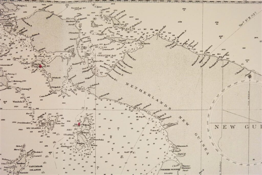Australia, Northern Portion  British Admiralty Chart 2759a, published in 1934