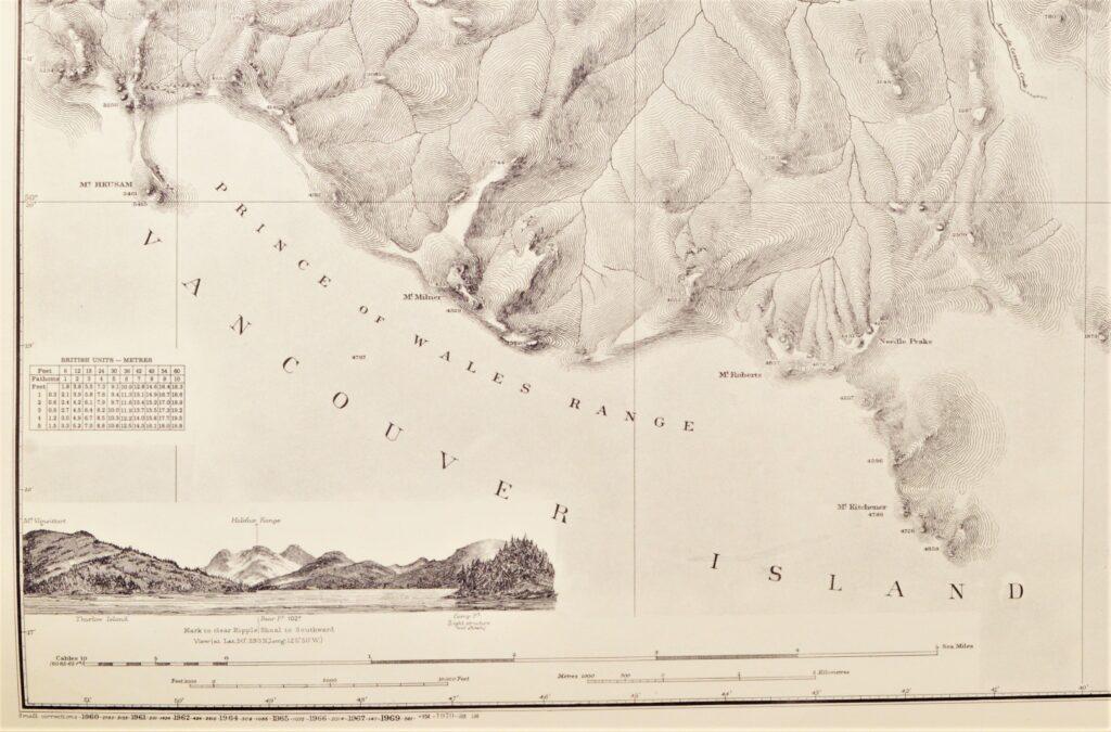 Vancouver Island – British Columbia  British Admiralty Chart 3260, published 1902