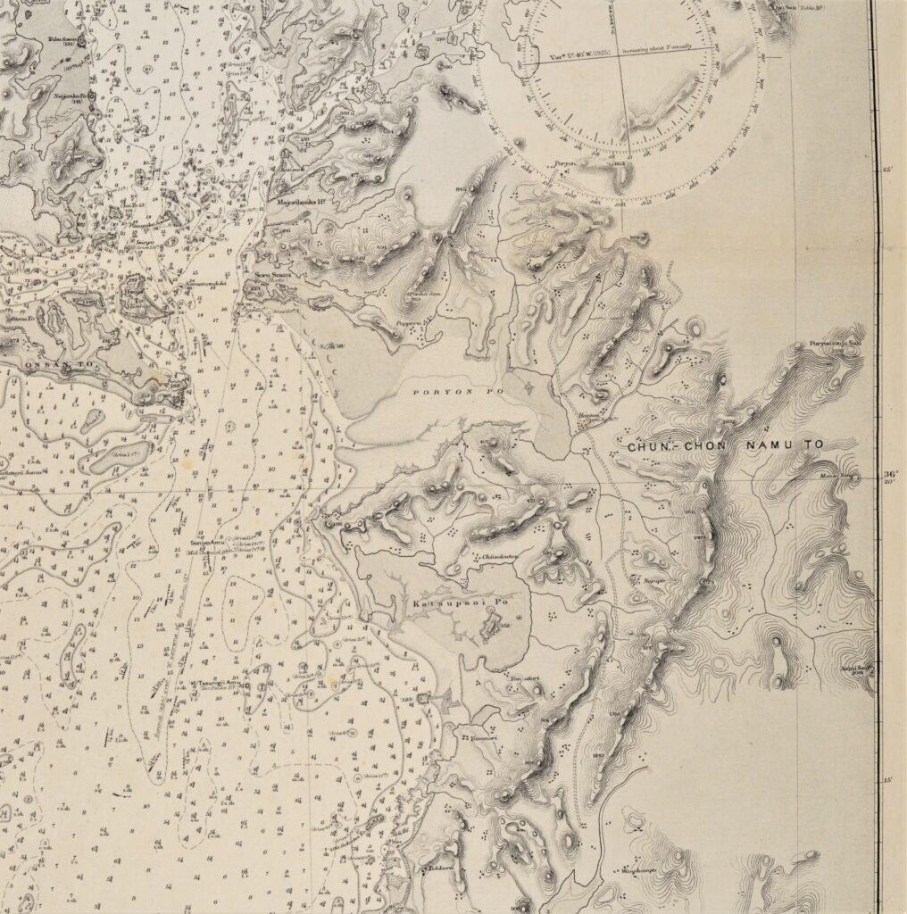 Korea – West Coast  British Admiralty Chart 3699, published 1908