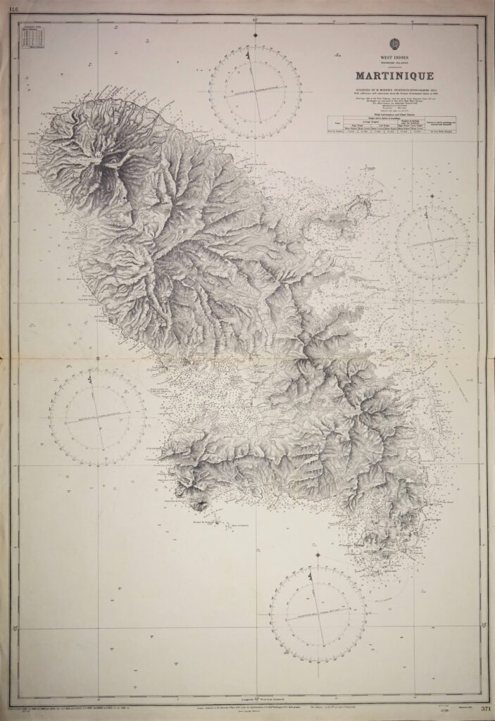 Martinique – West Indies, Windwards Islands British Admiralty Chart 371, published 1863