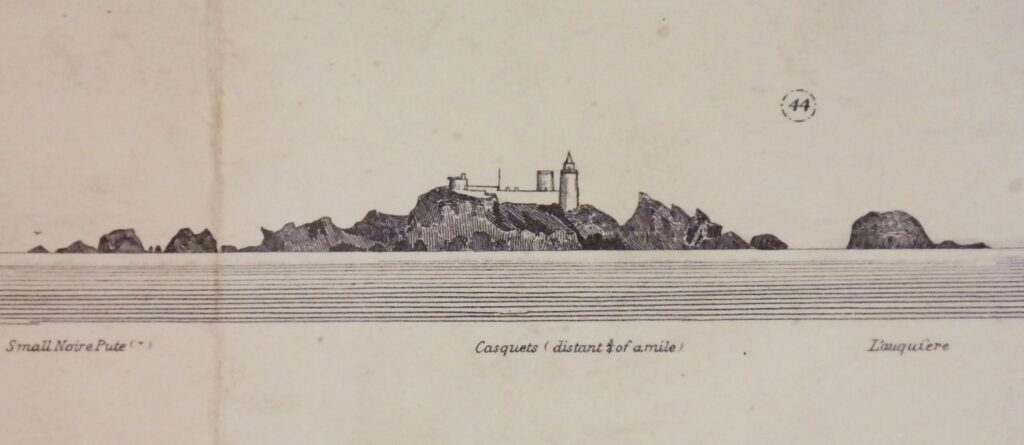 British British Admiralty Chart 60, published in 1865 English Channel Islands – Alderney & the Casquets